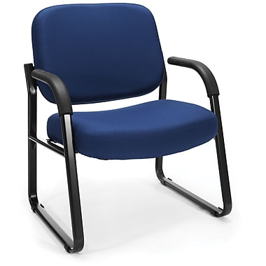 OFM Big and Tall Fabric Guest/Reception Chair, Navy