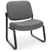 OFM Big and Tall Fabric Armless Guest/Reception Chair, Gray