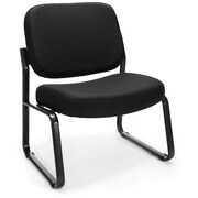 OFM Big and Tall Fabric Guest/Reception Chair, Black (409-805)