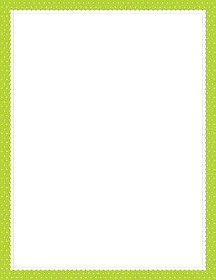 Lime Scalloped Dots Letterhead, 80 count 203242