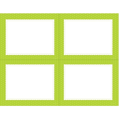 Great Papers® Lime Scalloped 4-UP Postcard, 80/Pack