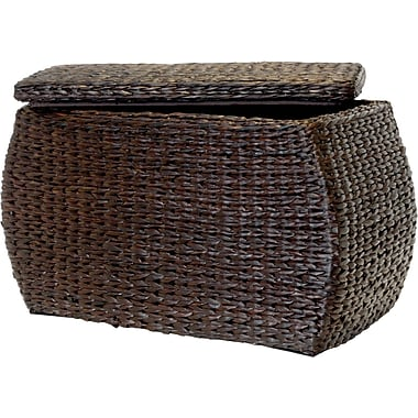 Natural Fibers Rectangle Rush Ottoman , Espresso