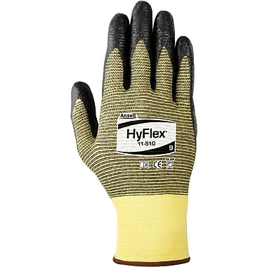 Ansell HyFlex® 11-510 Black Nitrile Gloves, Size Group 11