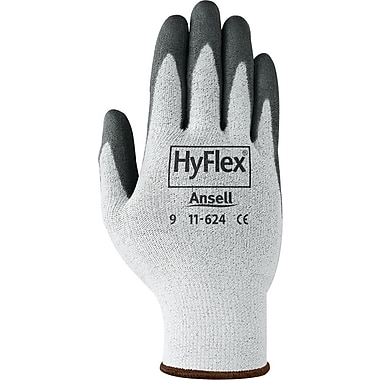 Ansell 11-624 DSM Dyneema® and Lycra®/Polyurethane White/Black Cut Resistant Gloves, Size Group 7