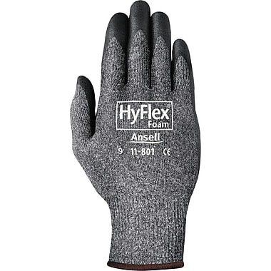 Ansell 11-801 Nylon/Foam Nitrile Assembly Dark Gray/Black Gloves, Size Group 7