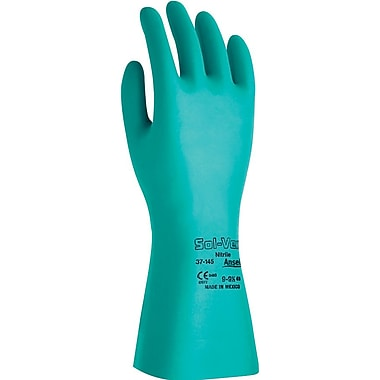 Ansell Sol-Vex® 37-145 Nitrile Gloves, Size Group 7