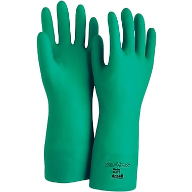 Ansell Sol-Vex® 37-175 Flock-Lined Nitrile Gloves, Size Group 7