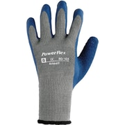 Ansell 80-100 Poly/Cotton/Natural Rubber Gray/Blue Latex Gloves, Size Group 7