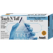 Ansell Touch N Tuff® 92-615 Nitrile Powder Free Disposable Gloves, Small