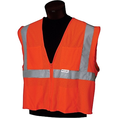 Jackson Safety 22835 Class 2 Deluxe Style Vest, XL/2XL, Silver Tape