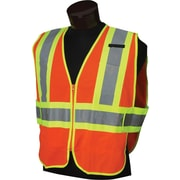 Jackson Safety 20293 Class 2 Two-Tone Orange Solid Deluxe Safety Vest, 2X/5XL
