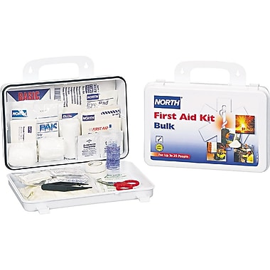 North 068-019702-0002L Plastic First Aid Kit 25 Person