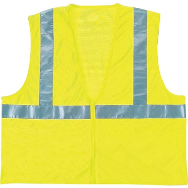 Anchor Brand® 1in.(H) x 10in.(W) x 13in.(L) Mesh Class 2 Vest, Lime, Small/Medium