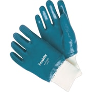 Memphis Glove Predator® 9761 Nitrile Coated Gloves, Large, Blue