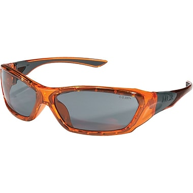MCR Safety® ForceFlex® FF132 ANSI Z87 Protective Eyewear, Gray/Translucent Orange