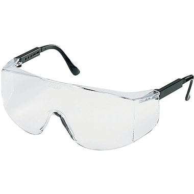 MCR Safety® Tacoma® TC110XL ANSI Z87 Protective Eyewear, Clear/Black