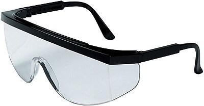 MCR Safety Tomahawk TK110 ANSI Z87 Protective Eyewear Clear Black