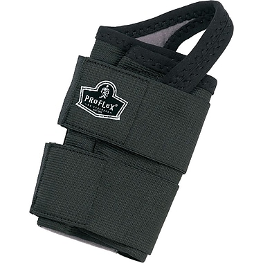 Ergodyne ProFlex® 4010 Double Strap Black Left Wrist Support, Medium, Black