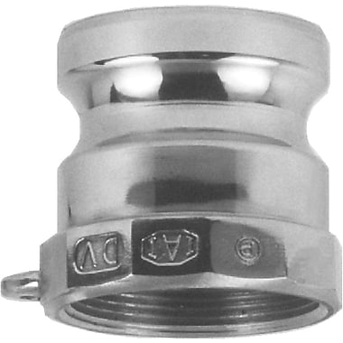 Dixon™ Valve 150 Stainless Steel Type A Boss-Lock Adapter, 1 1/2in. FNPT x 1 1/2in. Male Quick
