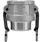 "Dixon™ Valve 200 Aluminum Type B Coupler, 2"" MNPT x 2"" Female Quick"