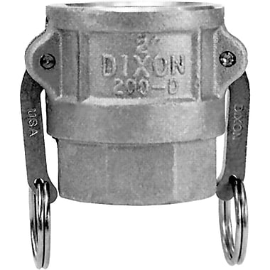 Dixon™ Valve 200 Aluminum Type D Coupler, 2in. FNPT x 2in. Female Quick