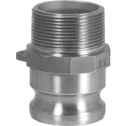 "Dixon™ Valve 200 Aluminum Type F Boss-Lock Adapter, 2"" MNPT x 2"" Male Quick"