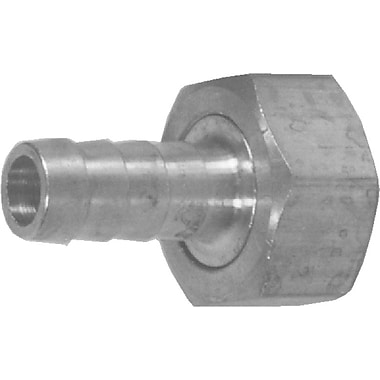 Dixon™ Valve BCF74 Brass GHT Thread Fitting With Hex Nut, 3/4in. Female Thread x 1/2in. Male Barb/Hose