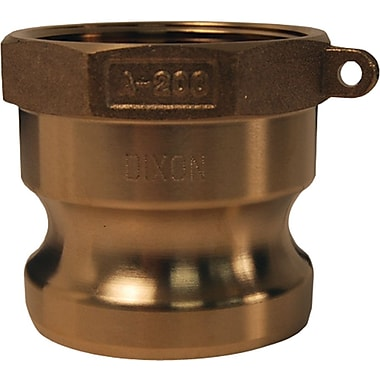Dixon™ Valve G300 Forged Brass Type A Global Adapter, 3in. FNPT x 3in. Male Barb/Hose