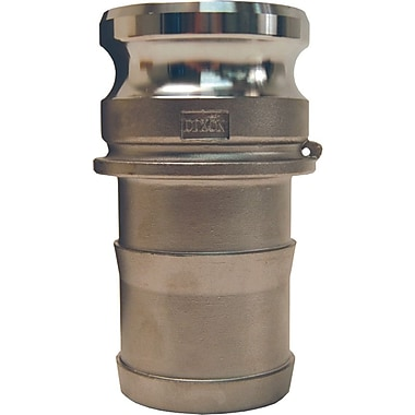 Dixon™ Valve G200 Aluminum Type E Global Adapter, 2in. Male Barb/Hose x 2in. Male Quick