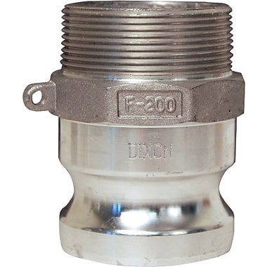 Dixon™ Valve G200 Aluminum Type F Global Adapter, 2in. Male Thread x 2in. Male Quick