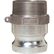 "Dixon™ Valve G400 Aluminum Type F Global Adapter, 4"" Male Quick x 4"" Male Thread"