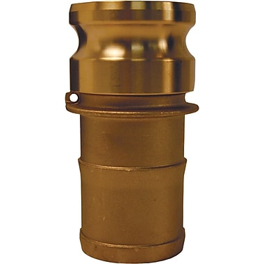 Dixon™ Valve G300 Forged Brass Type E Globa Adapter, 3in. Male Quick x 3in. Male Barb/Hose