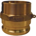 Dixon™ Valve G300 Forged Brass Type F Globa Adapter, 3in. Male Quick x 3in. Male Thread