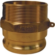 "Dixon™ Valve G300 Forged Brass Type F Globa Adapter, 3"" Male Quick x 3"" Male Thread"