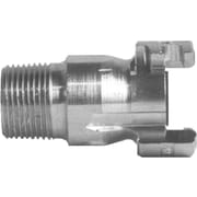 "Dixon™ Valve PM12 Plated Steel Dual Lock Quick-Acting Coupling, 3/4"" MNPT x 1/2"" Female Quick"