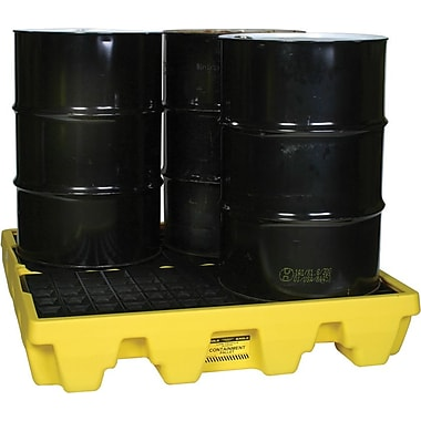 Eagle Mfg 8in.(H) x 51 1/2in.(W) x 51 1/2in.(D) Low Profile Spill Containment Pallet, 66 gal