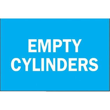 Brady® Empty Cylinder Chemical & Hazardous Materials Sign, 7in.(L) x 10in.(W)
