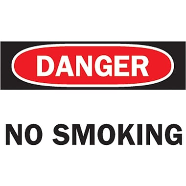 Brady® No Smoking Sign, 7in.(L) x 10in.(W)