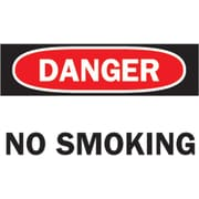 "Brady® No Smoking Sign, 7""(L) x 10""(W)"