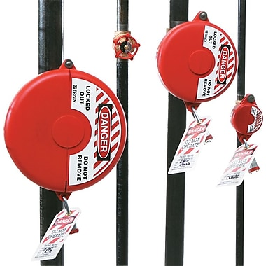 Brady® 65561 Small Gate Valve Lockout, Red
