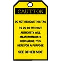 Brady® Blank Accident Prevention Tag, 5 3/4in.(L) x 3in.(W)