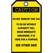 "Brady® Blank Accident Prevention Tag, 5 3/4""(L) x 3""(W)"