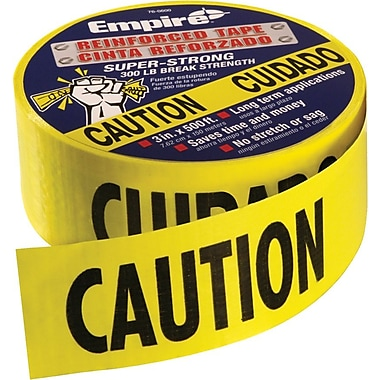 Empire® 76 3in.(W) x 500'(L) Safety Barricade Tape, Yellow/Black