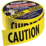 Empire® 76 3(W) x 500'(L) Safety Barricade Tape, Yellow/Black