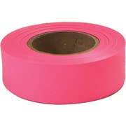 Empire® 77 1(W) x 200yd(L) Flagging Tape, Fluorescent Glo-Pink