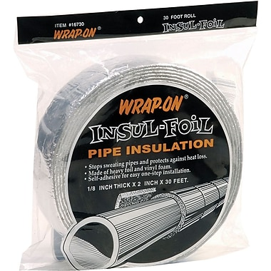 Wrap-On® 16730 Insul-Foil Pipe Insulation, 30'(L) x 2