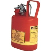 Justrite® 14160 Oval Non-Metallic Type l Safety Can, 1 gal