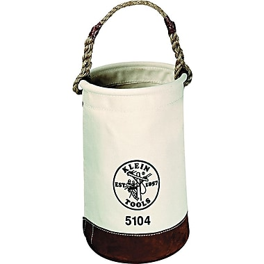 Klein Tools® Leather-Bottom Canvas Bucket, 1 Compartment, 17in.(H)
