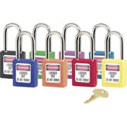 Master Lock® 410 Safety Series™ Lightweight Xenoy Thermoplastic Safety Padlock, 6 Pin, Purple