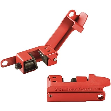 Master Lock® Grip Tight™ 491B Circuit Breaker Lockout, Red